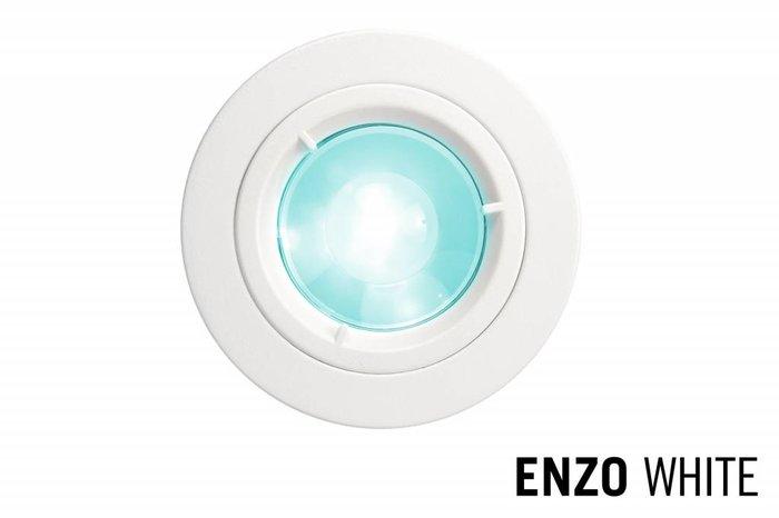 LED Inbouwspot ENZO, GU10 Armatuur ,Wit Rond