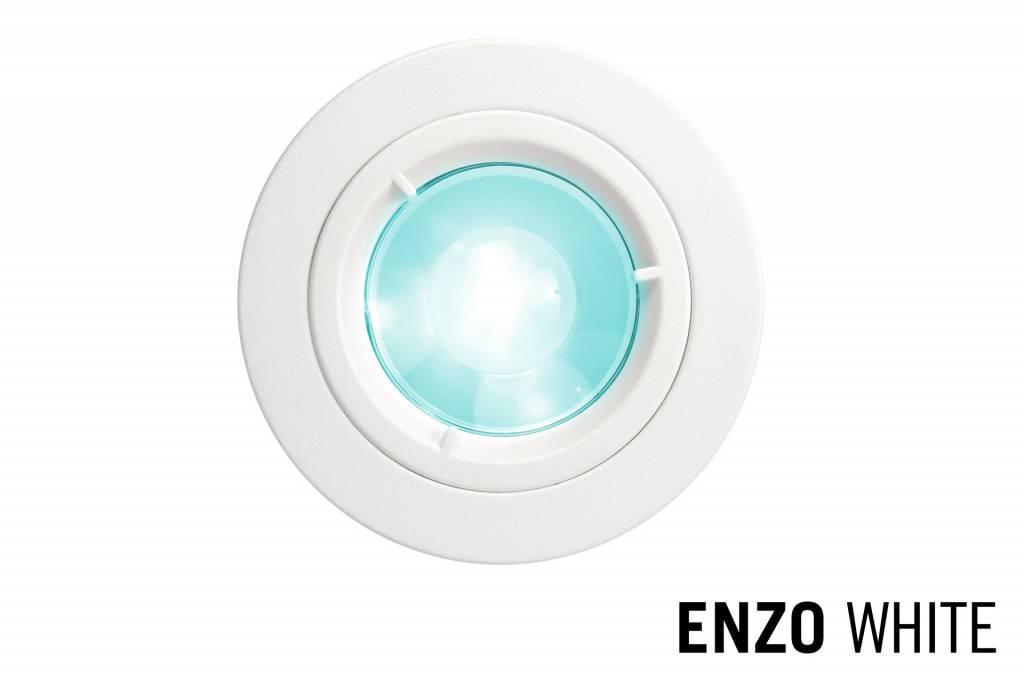 Mi·Light GU10 LED Inbouwspot Armatuur ENZO. Satijn Wit. Rond Ø81mm