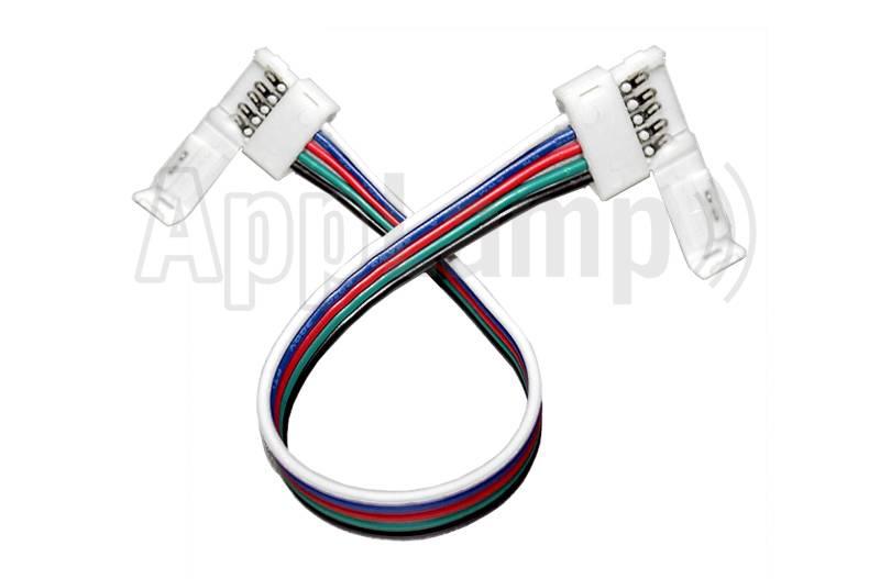 RGBW flexibel koppelstuk voor 12mm RGBW LED strips, 15cm - 5 contacten