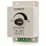 LED strip dimmer met draaiknop / pot dimmer 12V-24V 8A