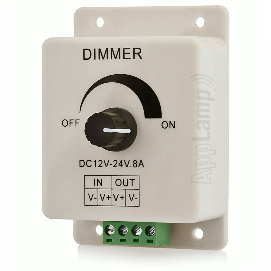 LED strip dimmer met draaiknop / pot dimmer 12V-24V 8A