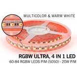 RGBW ULTRA LED strip 60 - 84 LED/m, 4 IN 1 LED