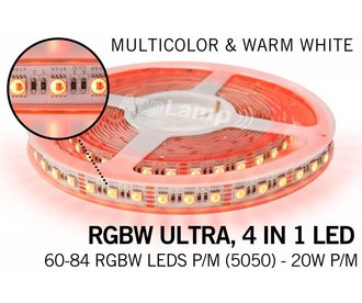 RGBW ULTRA LED strip 60 - 84 LED/m, 4 IN 1 LED
