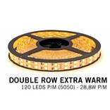 AppLamp Extra Warm Witte Ledstrip 2200K, dubbele rij 5050, 28.8W P/M 12V