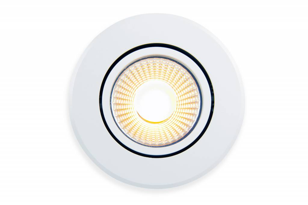 LED Inbouwspot Mi-Light 6W Dual White 220V. 30° Kantelbaar. Satijn Wit ⌀86mm