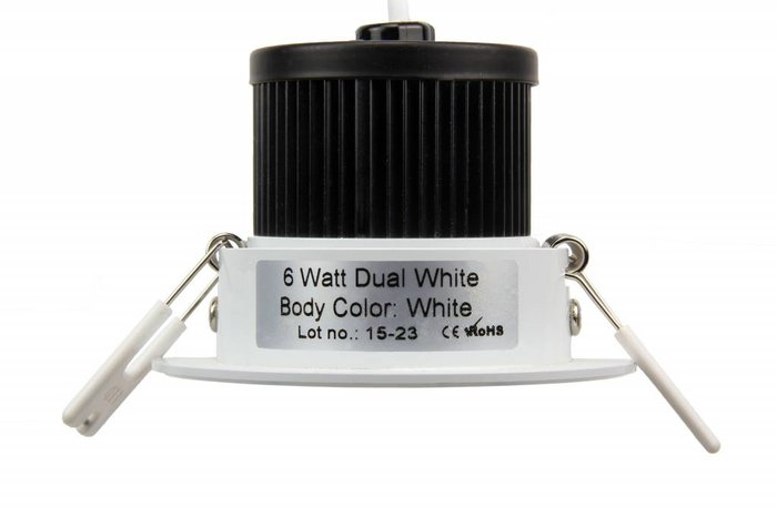 AppLamp 6 Watt Dual White LED kantelbare Inbouwspot. Inclusief voeding en controller. 220Volt