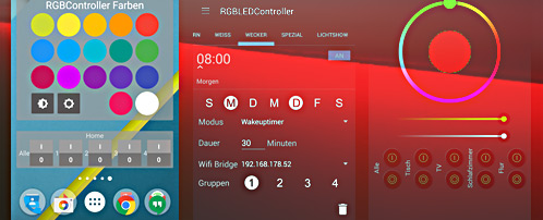 Wifi RGB LED Controller voor Android