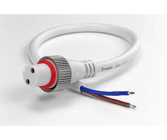 AppLamp DC pigtail connector IP68 voor waterdichte witte LED strips