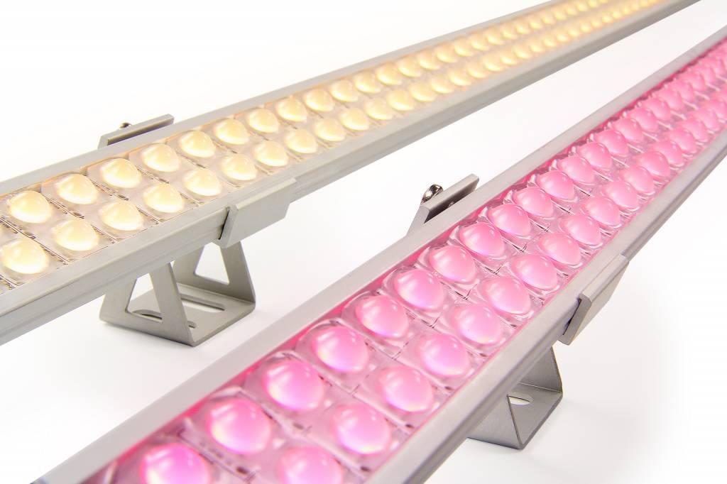 RGBW ULTRA WallWasher Slim Line 60cm dubbele rij 24V. 84 LED's. 25W
