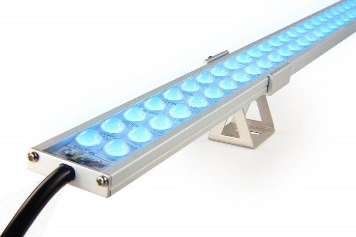 AppLamp RGBW ULTRA WallWasher Slim Line 90cm dubbele rij 24V, 126 LED's, 37 Watt
