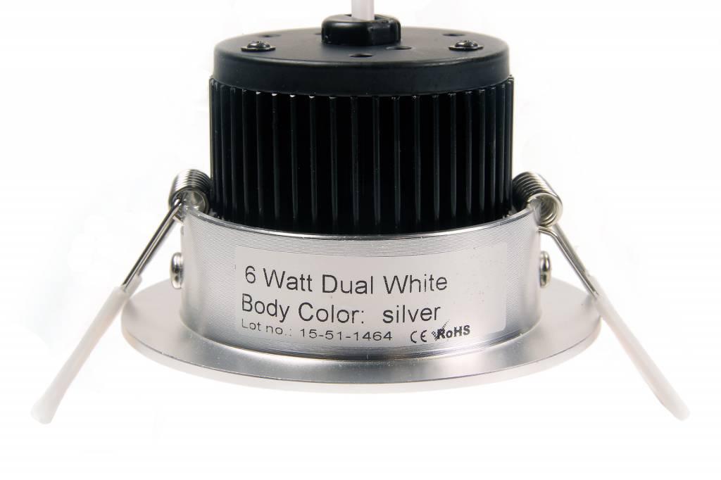 Mi·Light 6 Watt Dual White LED kantelbare Inbouwspot. Inclusief voeding en controller. 220Volt