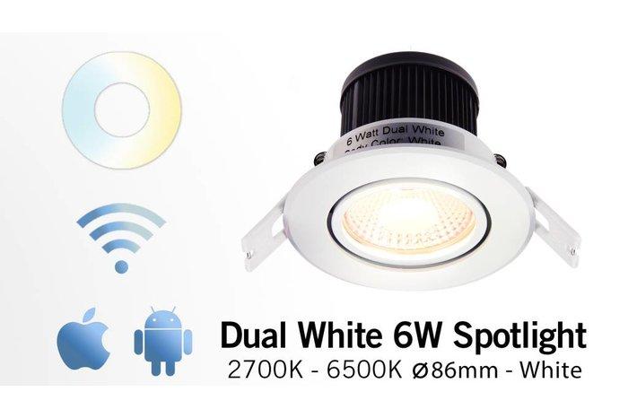 AppLamp 6 Watt Dual White LED kantelbare Inbouwspot. Inclusief voeding/controller. 220Volt