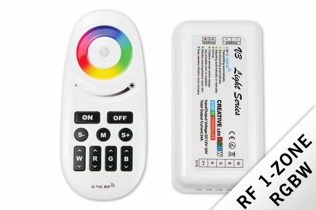 RF RGBW Creative 1-kanaals controller met afstandsbediening 24A