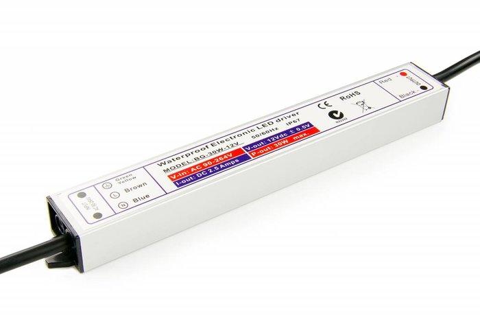 Waterdichte voeding DC 12V 30Watt 1.25A - IP67