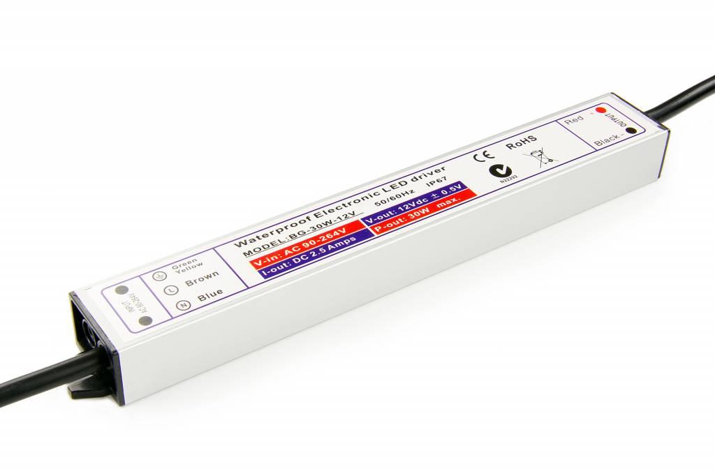 Waterdichte voeding DC  24V 30Watt 1.25A - IP67