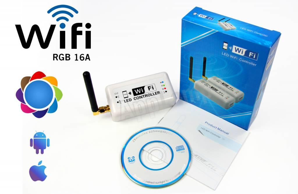 LED Magical Wi-Fi RGB controller met persoonlijke kleurschema's! Bediening met App op smartphone of tablet
