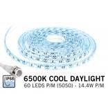 Waterdichte IP68 LED strip Koel Wit Daglicht, 300 leds, 12V, 5M