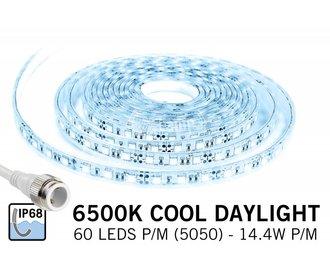 AppLamp Waterdichte IP68 LED strip Koud Wit Daglicht, 300 leds, 12V,  5 of 1,5 meter