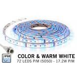 Waterdichte RGBW LED strip IP68 met 360 leds, 5m of 1.5m, 12V, 86W