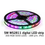 Dream Color WS2811 RGB Digital LED strip 5 meter, 60 leds p.m. type 5050 12V IP65