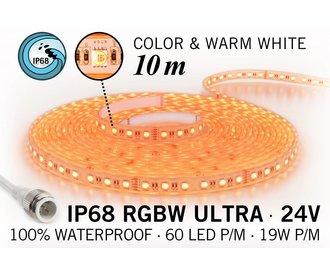 AppLamp IP68 Waterdichte RGBW ULTRA Ledstrip, 600 ULTRA Led's, 24 Volt, 10 m