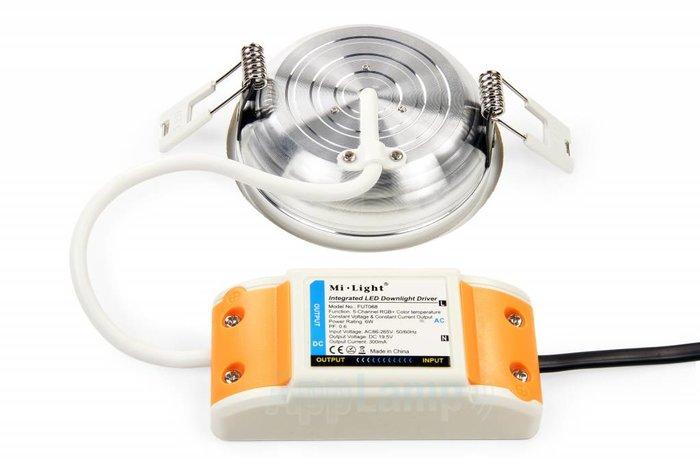 RGB kleur + Dual White 6 Watt LED inbouwspots, complete 220V sets met remote *Nieuw*