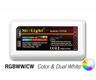 RF RGB Kleur+Dual White (CT) Controller *Nieuw* 5x6A 360W (los) 12-24V