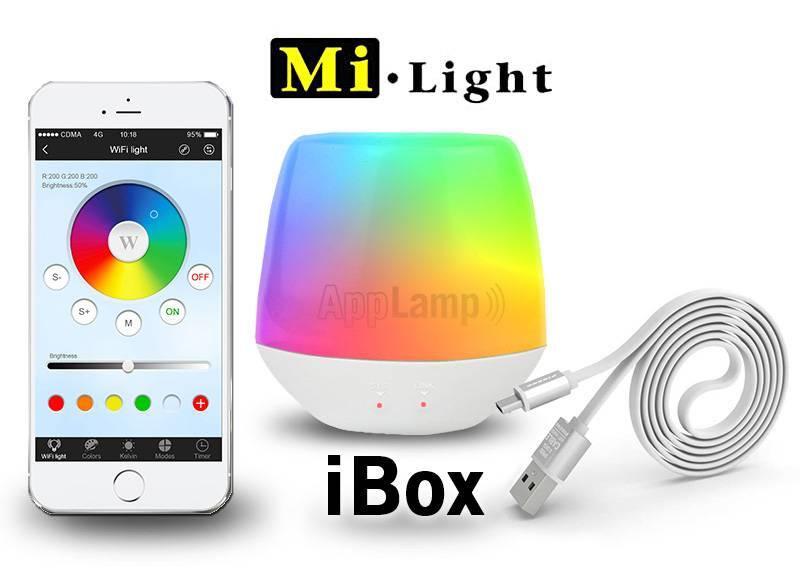 mi light wifi ibox met app wifi led controller voor wifi led lampen en wifi ledstrips. Black Bedroom Furniture Sets. Home Design Ideas