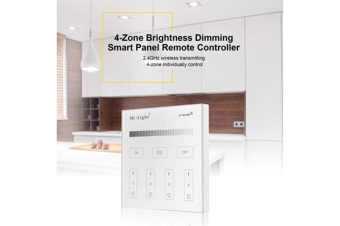 MiLight MiLight Inbouw RF Touch Dimmer Paneel 4-kanaals, Witte Verlichting, 220V