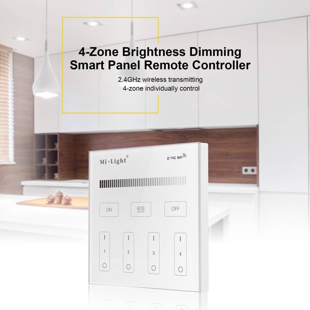 Mi·Light MiLight Inbouw RF Touch Dimmer Paneel 4-kanaals, Witte ...