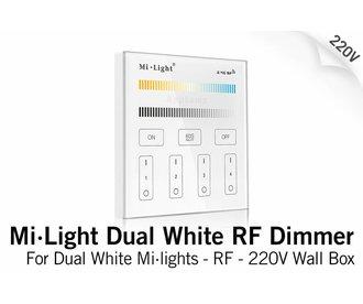 MiLight Inbouw Dual White RF Touch Dimmer Paneel 4-kanaals, 220V