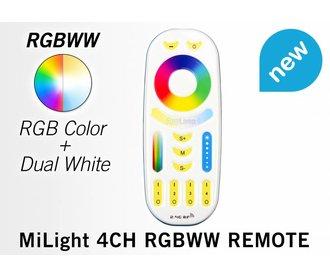 Touch Remote RGB+CT(Dual White)  (RGBWW) met 4-kanalen