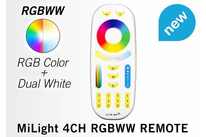 Mi·Light Touch Remote RGB+CT(Dual White)  (RGBWW) met 4-kanalen