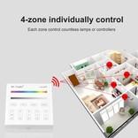 Mi·Light MiLight RGB / RGBW Touch Wandbediening Opbouw, 4-zones, RF, 2xAAA Batterij