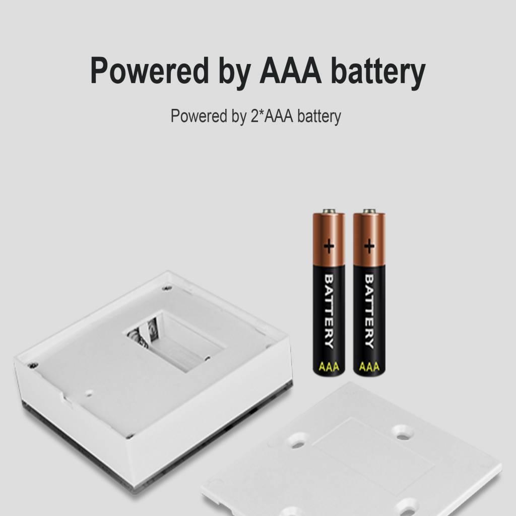 MiLight RGB / RGBW Touch Wandbediening Opbouw, 4-zones, RF, 2xAAA Batterij