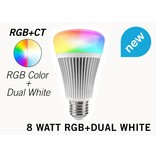 Mi·Light Mi-light 8W RGB & Dual White E27 Wifi LED Lamp. Op afstand bedienbaar
