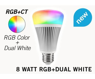 Mi-light 8W RGB & Dual White E27 Wifi LED Lamp