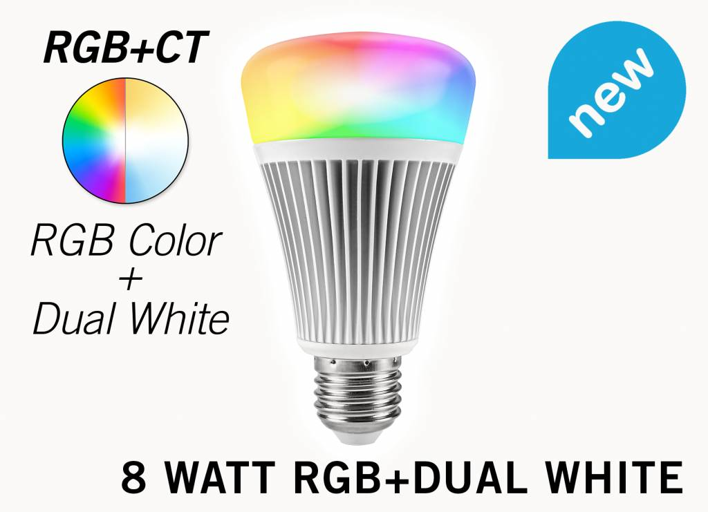 Mi-light 8W RGB & Dual White E27 Wifi LED Lamp