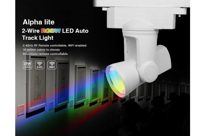 Alpha Lite 25W RGBW Rail Track Light 99 zones met 350º / 180º motorbediening