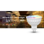 Mi·Light Mi-light 4W RGBW & Dual White 12V MR16 GU5.3 LED Spot. Halogeenvervanger op afstand bedienbaar.