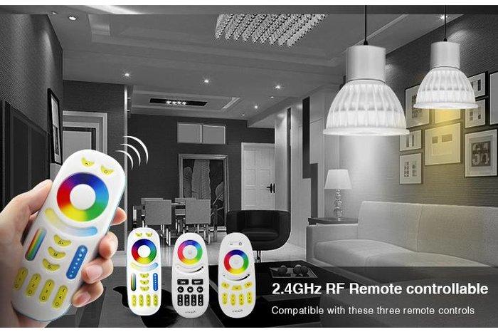 MR16 GU5.3 LED spotje, RGB Kleur en Dual White, 12V halogeen vervanger, RF, 4W