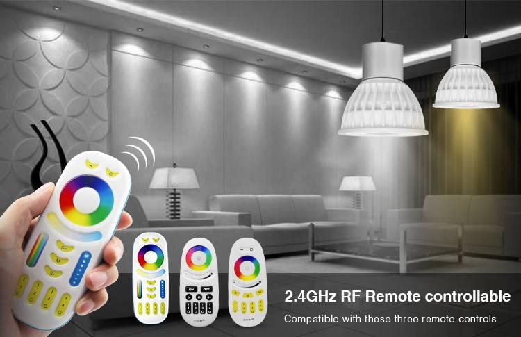 Mi·Light GU10 4W Mi-Light LED spotje, RGB Kleur en Dual White, 220V halogeen vervanger, RF
