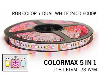 COLORMAX Ledstrip RGB Color+Dual White 108 LED/m, 5 IN 1