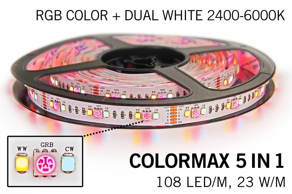 COLORMAX Ledstrip RGB Color+Dual White 108 LED/m, 5 IN 1