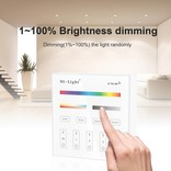 MiLight MiLight RGB+ DualWhite (RGB+CT) Touch Wandbediening Opbouw, 4-zones, RF, 2xAAA