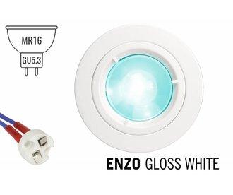 GU5.3 / MR16 LED Inbouwspot Armatuur ENZO. Glanzend Wit Ø82mm