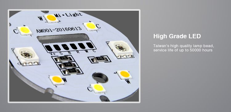 Mi·Light Mi-light 4W RGB & Dual White GU10 LED Spot Starterskit. Incl. Afstandsbediening & Wifi-box