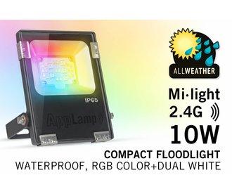 Mi·light 10W RGBWW Kleur+Dual Wit schijnwerper