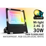 Mi·Light Mi-Light 30W RGBWW Kleur + Dual White LED Schijnwerper 220V. Spatwaterdicht IP65