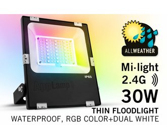 Mi·light 30W RGBWW Kleur+Dual Wit verstraler